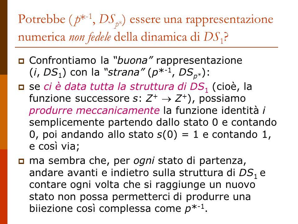 Potrebbe ( p*‑1, DSp*) essere una rappresentazione numerica non fedele della dinamica di DS1