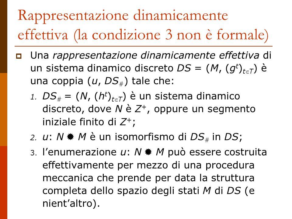 Rappresentazione dinamicamente effettiva (la condizione 3 non è formale)