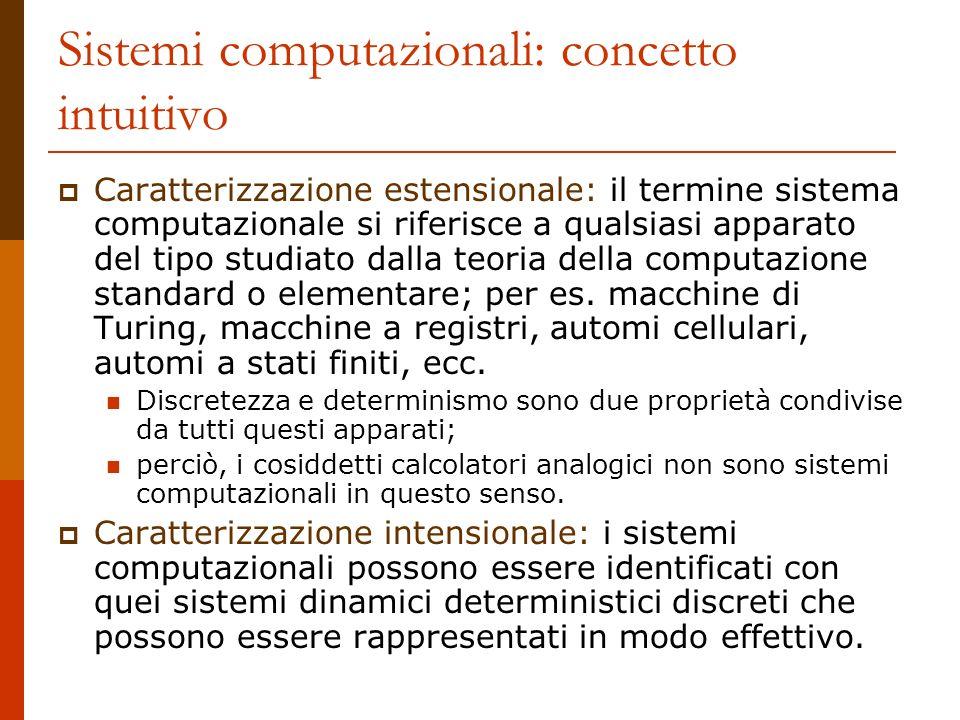 Sistemi computazionali: concetto intuitivo