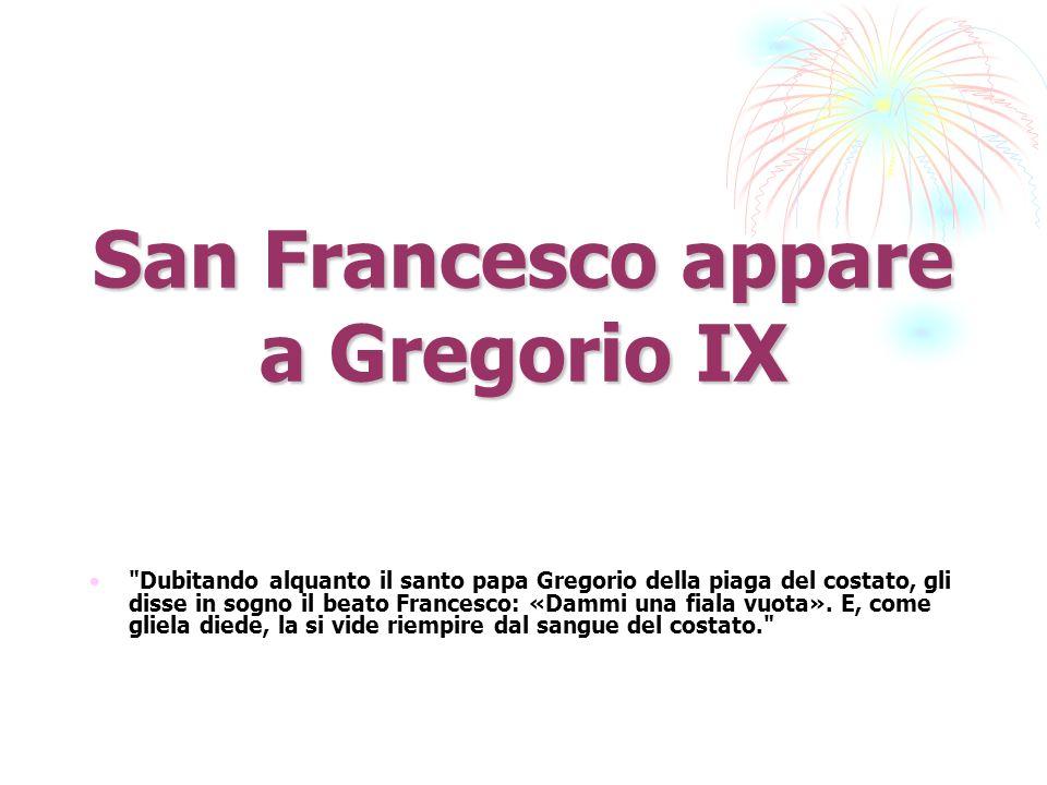 San Francesco appare a Gregorio IX
