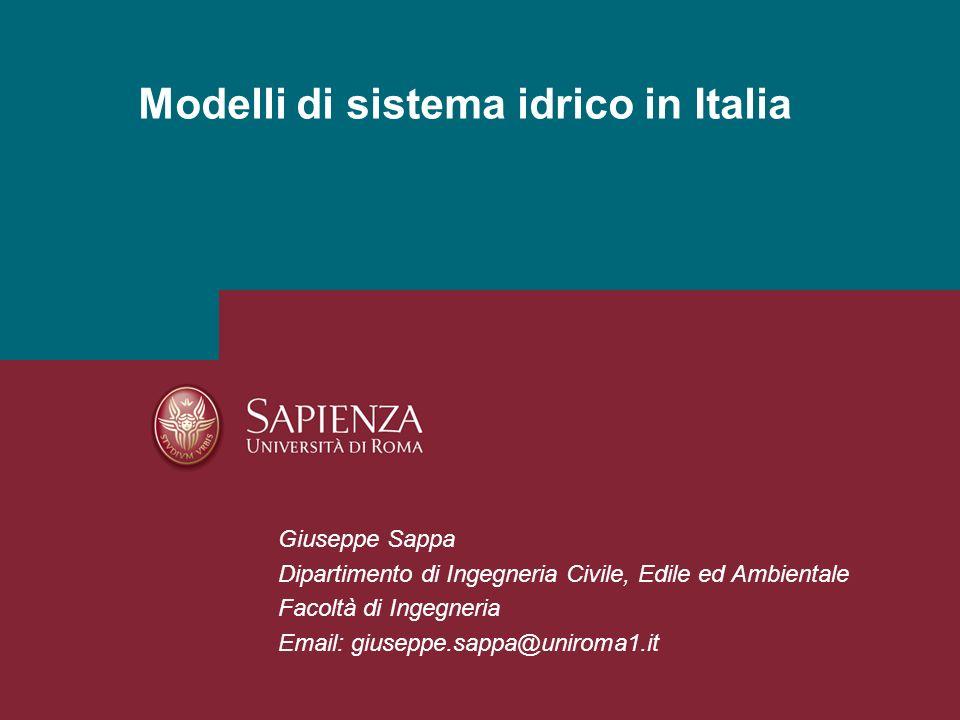 Modelli di sistema idrico in Italia
