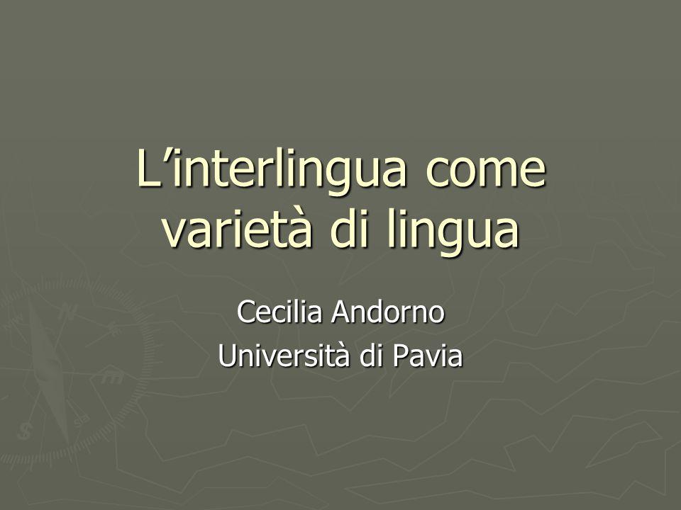 L'interlingua come varietà di lingua