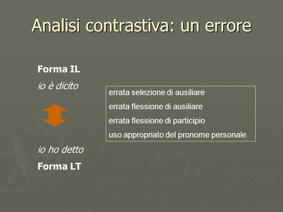 Analisi contrastiva: un errore