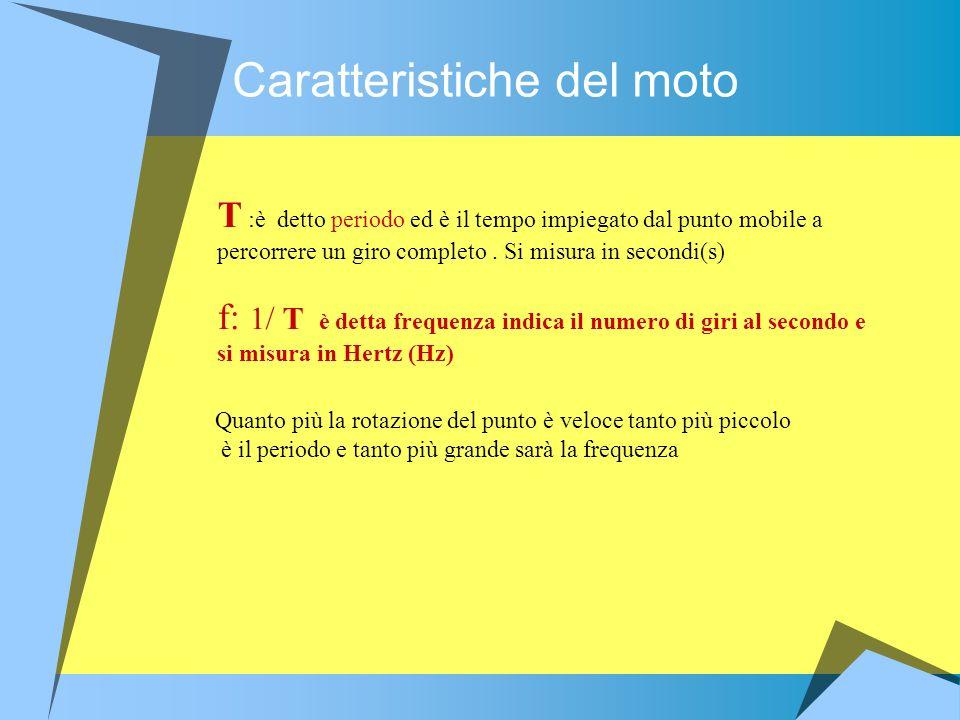Caratteristiche del moto