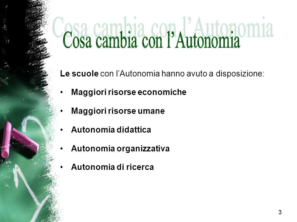 Cosa cambia con l'Autonomia