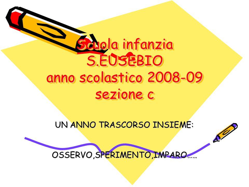 Scuola infanzia S.EUSEBIO anno scolastico 2008-09 sezione c