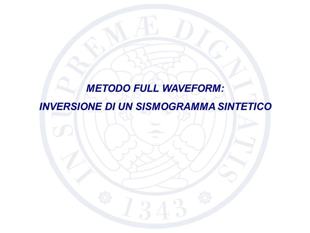 INVERSIONE DI UN SISMOGRAMMA SINTETICO