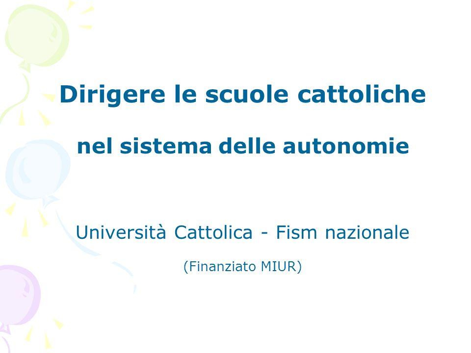 Dirigere le scuole cattoliche nel sistema delle autonomie