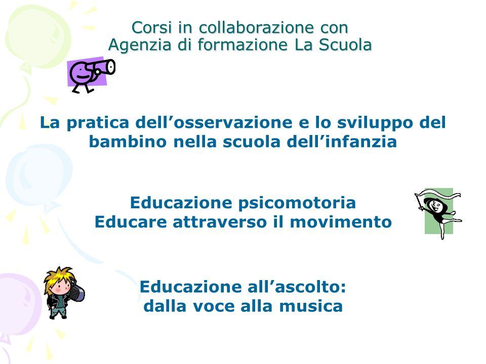 Educazione psicomotoria Educazione all'ascolto: