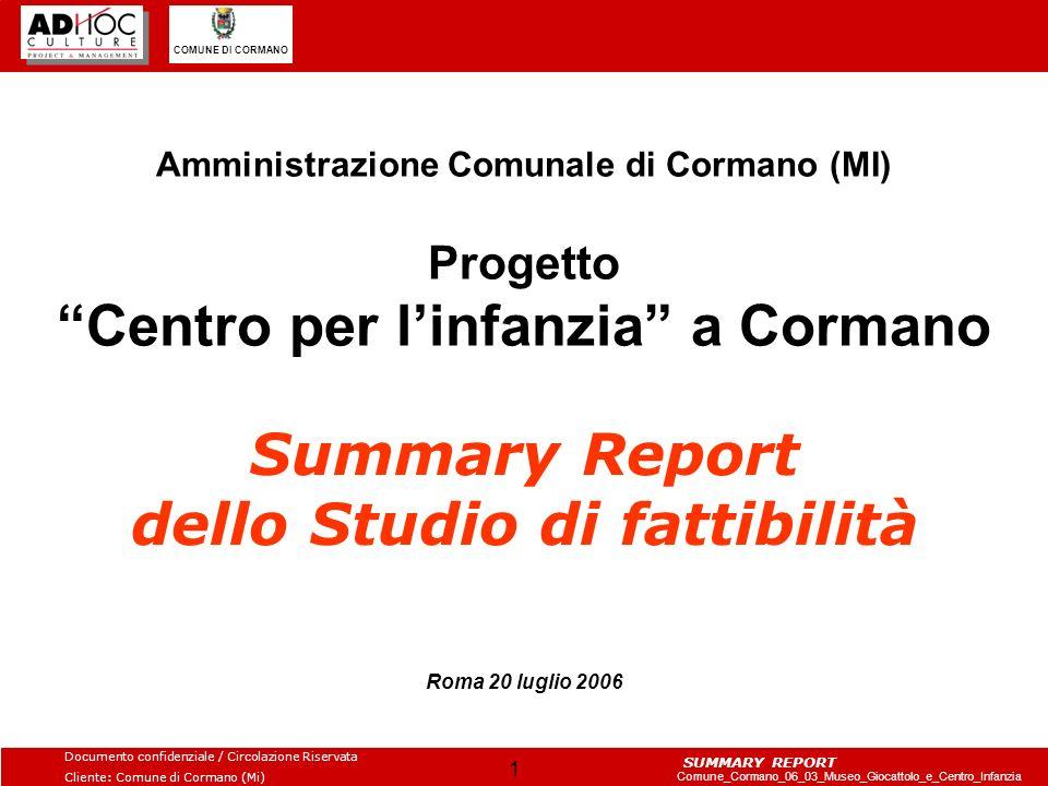 Summary Report dello Studio di fattibilità