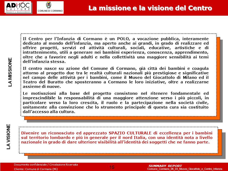 La missione e la visione del Centro
