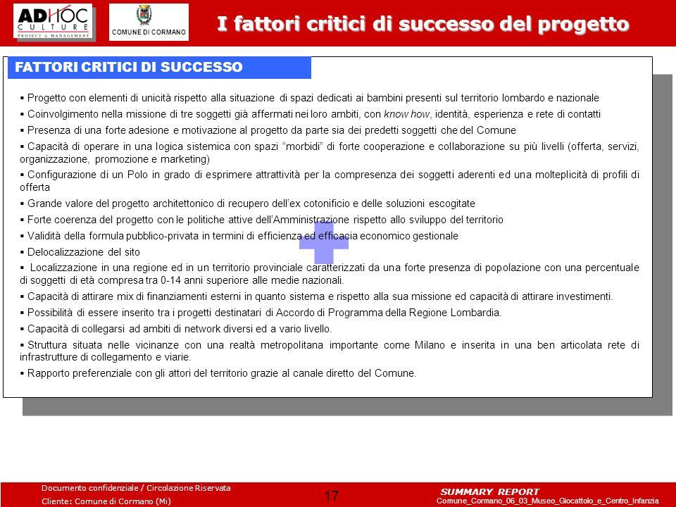 I fattori critici di successo del progetto