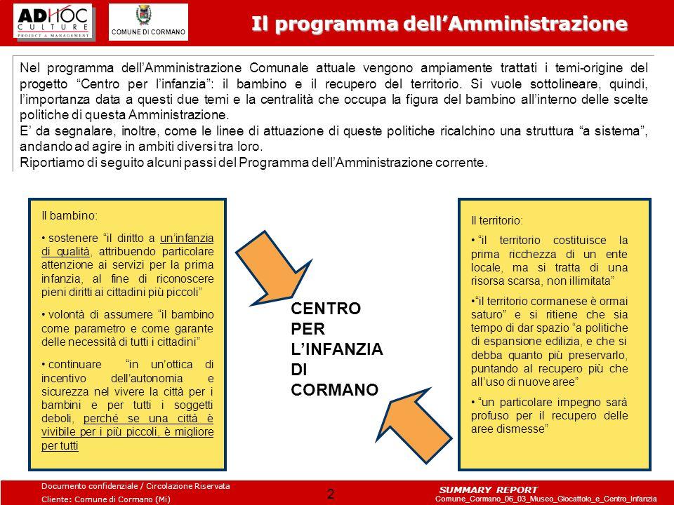 Il programma dell'Amministrazione