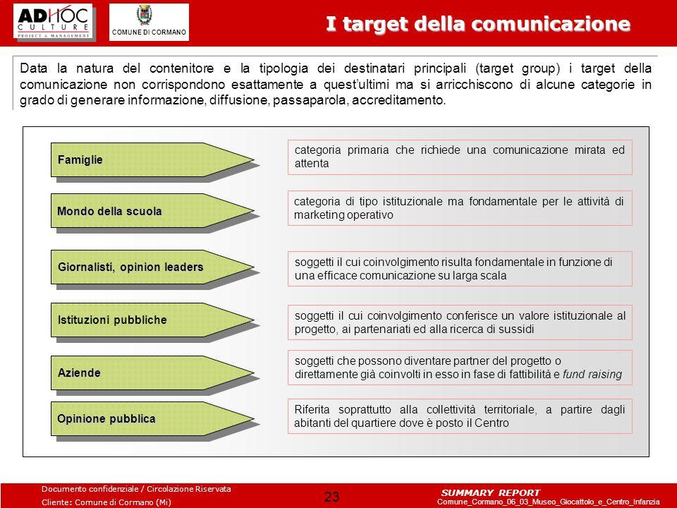 I target della comunicazione