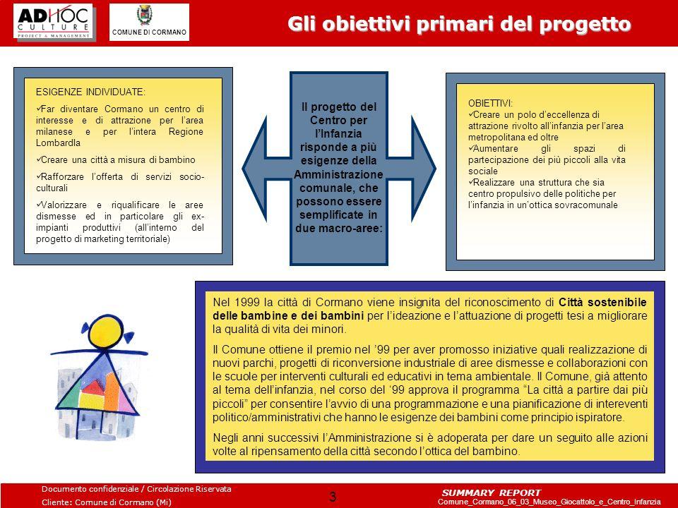 Gli obiettivi primari del progetto