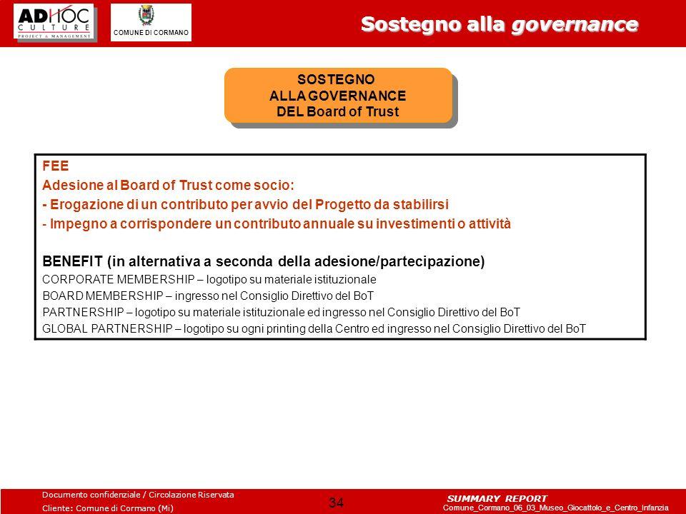 SOSTEGNO ALLA GOVERNANCE DEL Board of Trust