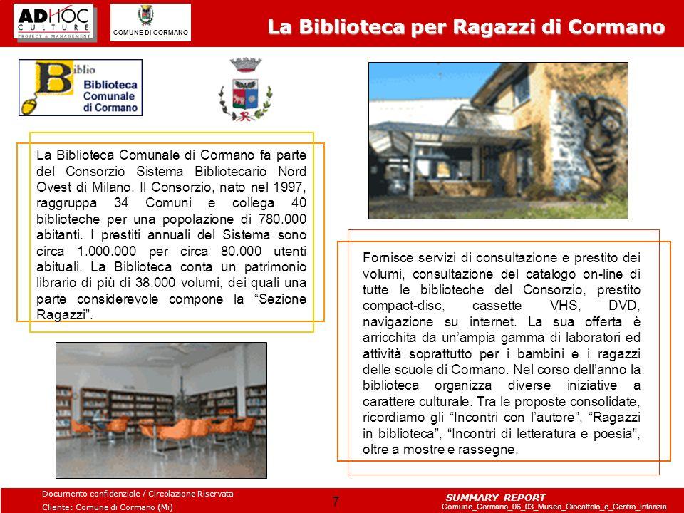 La Biblioteca per Ragazzi di Cormano