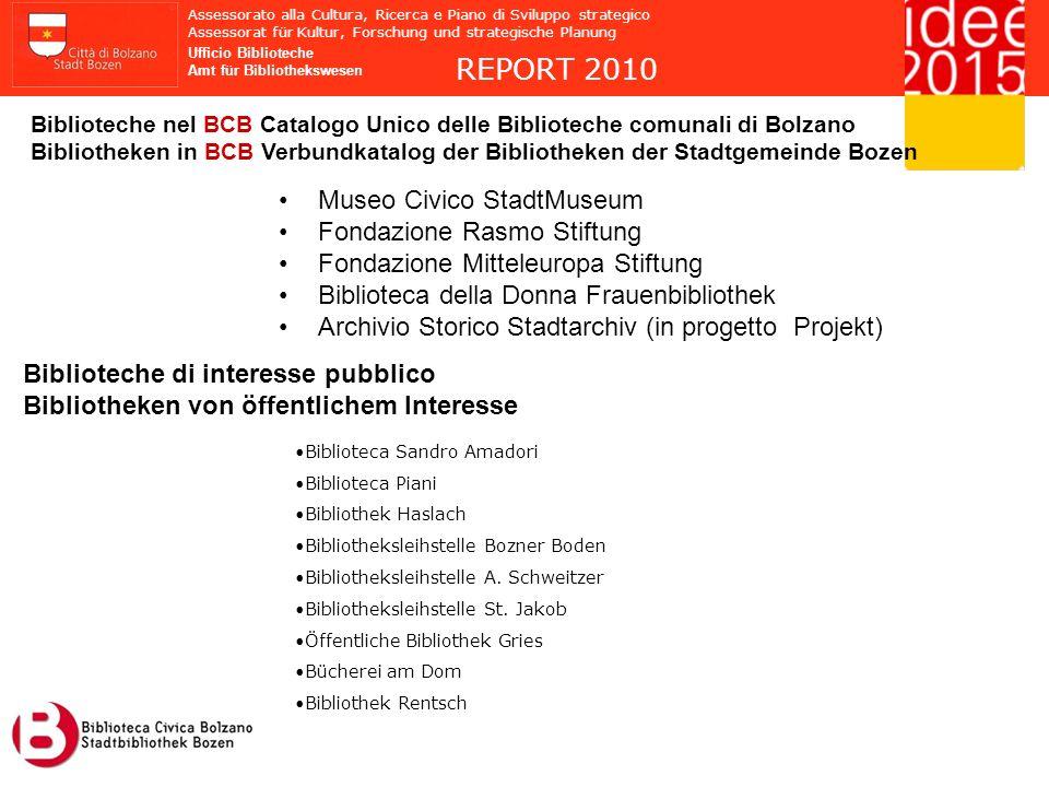 REPORT 2010 Museo Civico StadtMuseum Fondazione Rasmo Stiftung