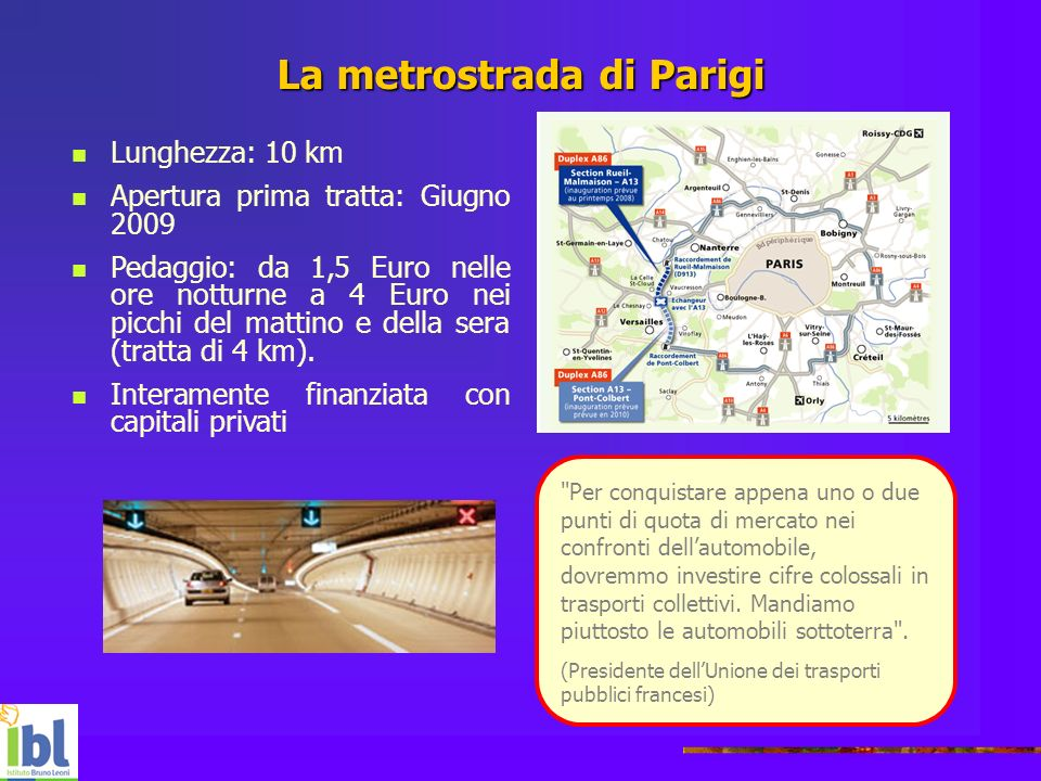 La metrostrada di Parigi