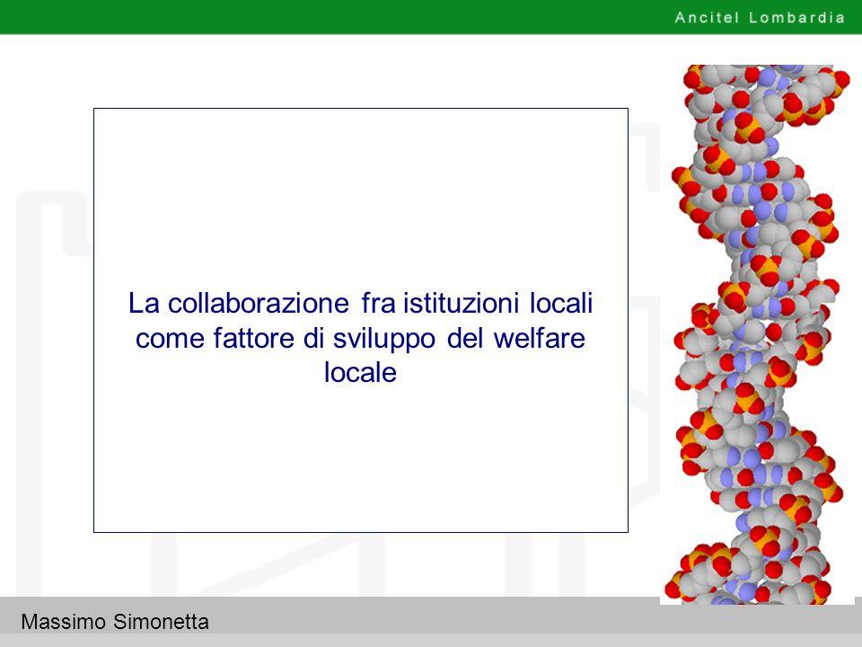 La collaborazione fra istituzioni locali come fattore di sviluppo del welfare locale
