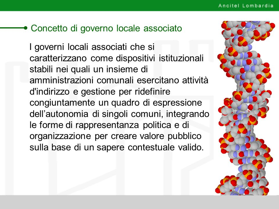 Concetto di governo locale associato