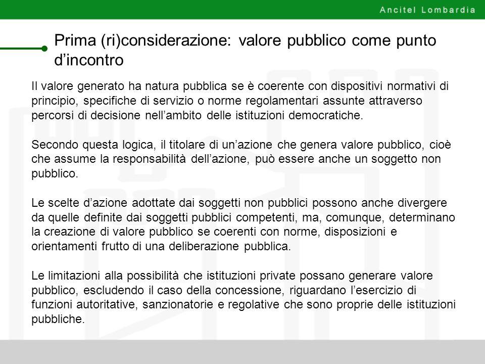 Prima (ri)considerazione: valore pubblico come punto d'incontro