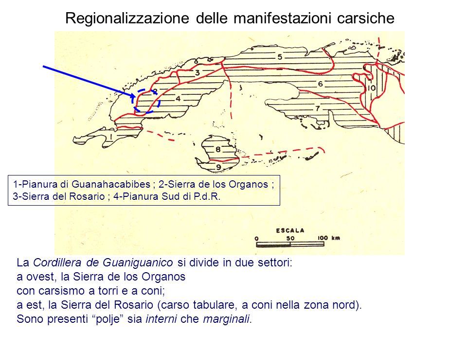 Regionalizzazione delle manifestazioni carsiche