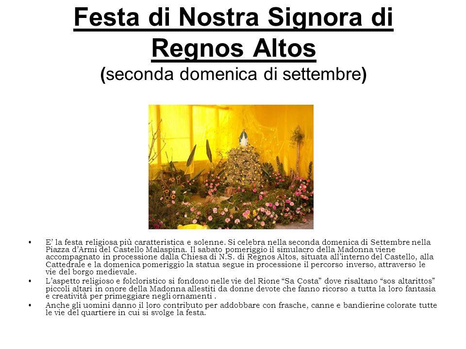 Festa di Nostra Signora di Regnos Altos (seconda domenica di settembre)
