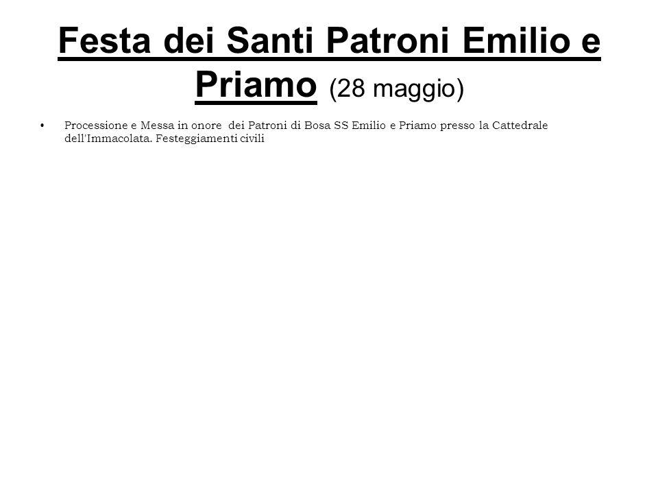 Festa dei Santi Patroni Emilio e Priamo (28 maggio)