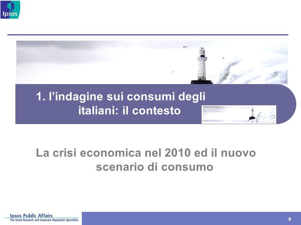 1. l'indagine sui consumi degli italiani: il contesto
