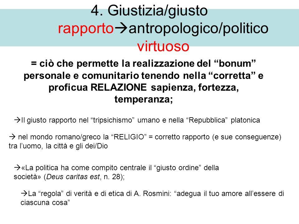 4. Giustizia/giusto rapportoantropologico/politico virtuoso