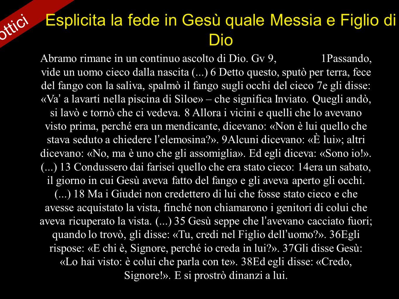 Esplicita la fede in Gesù quale Messia e Figlio di Dio