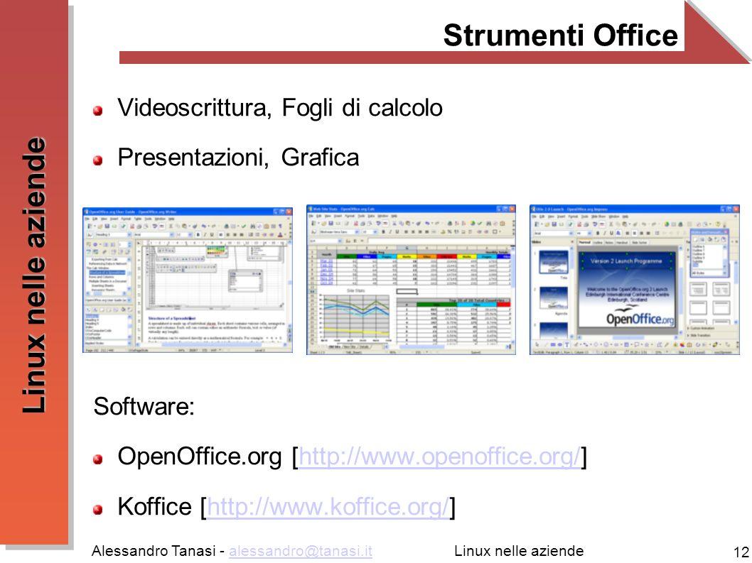 Strumenti Office Videoscrittura, Fogli di calcolo