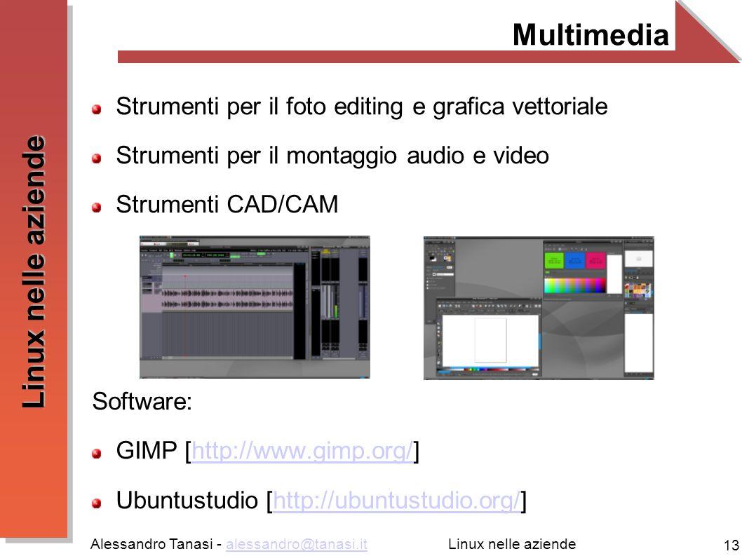 Multimedia Strumenti per il foto editing e grafica vettoriale