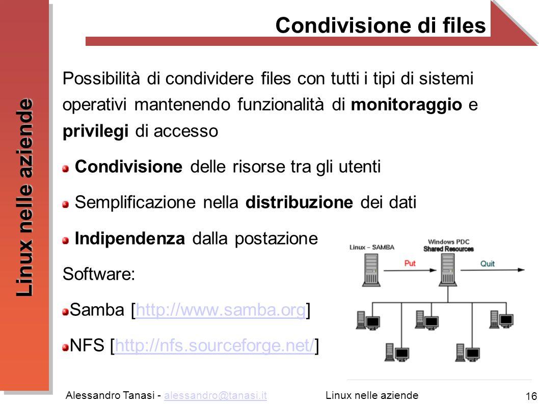 Condivisione di files