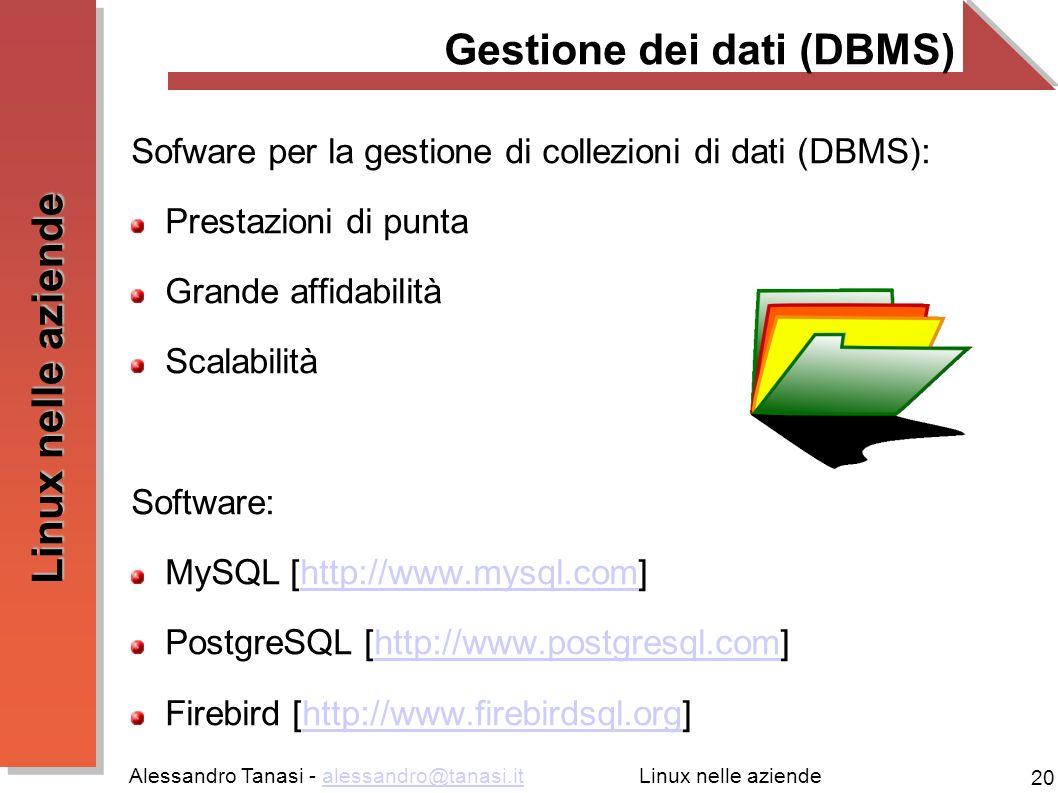 Gestione dei dati (DBMS)