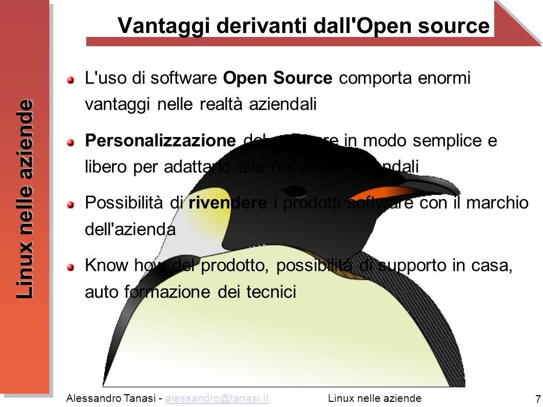 Vantaggi derivanti dall Open source