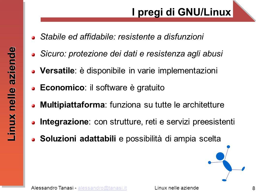 I pregi di GNU/Linux Stabile ed affidabile: resistente a disfunzioni