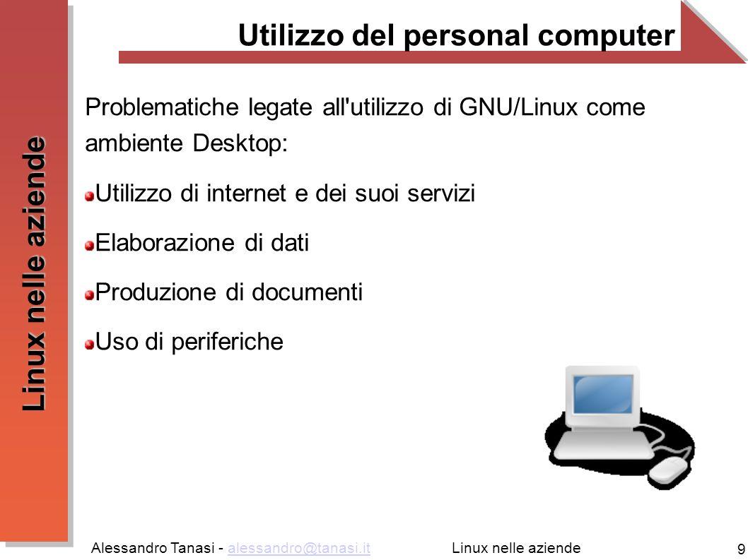 Utilizzo del personal computer