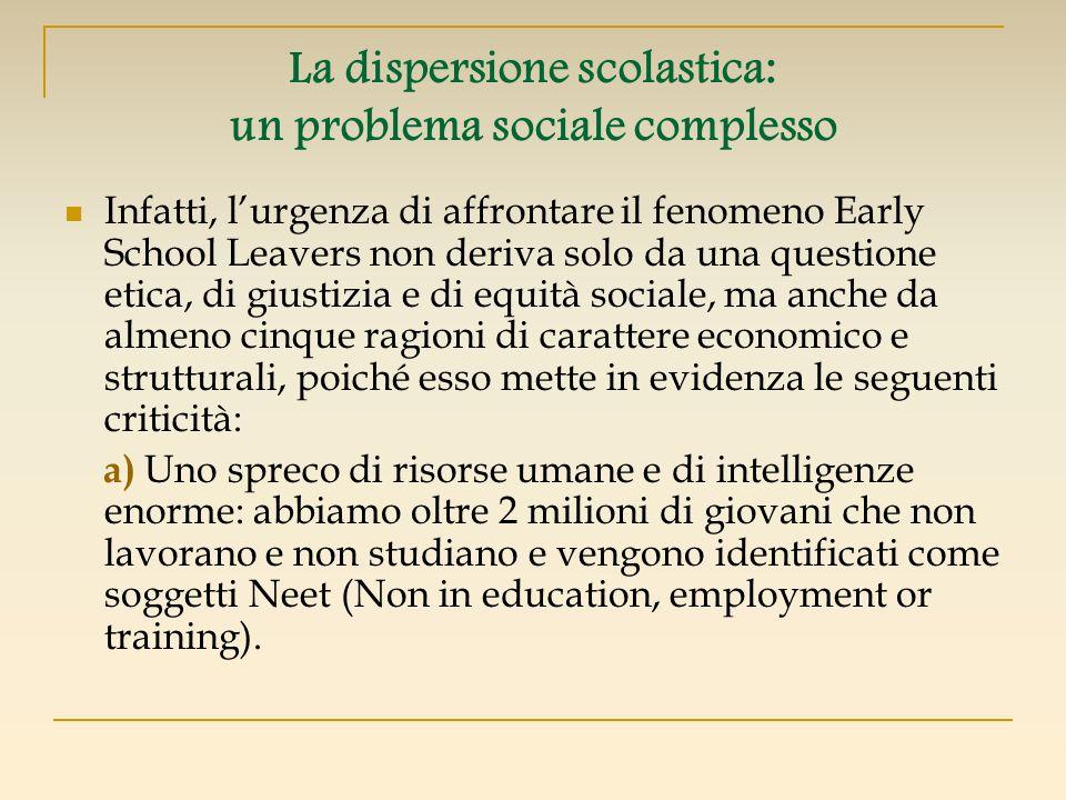 La dispersione scolastica: un problema sociale complesso