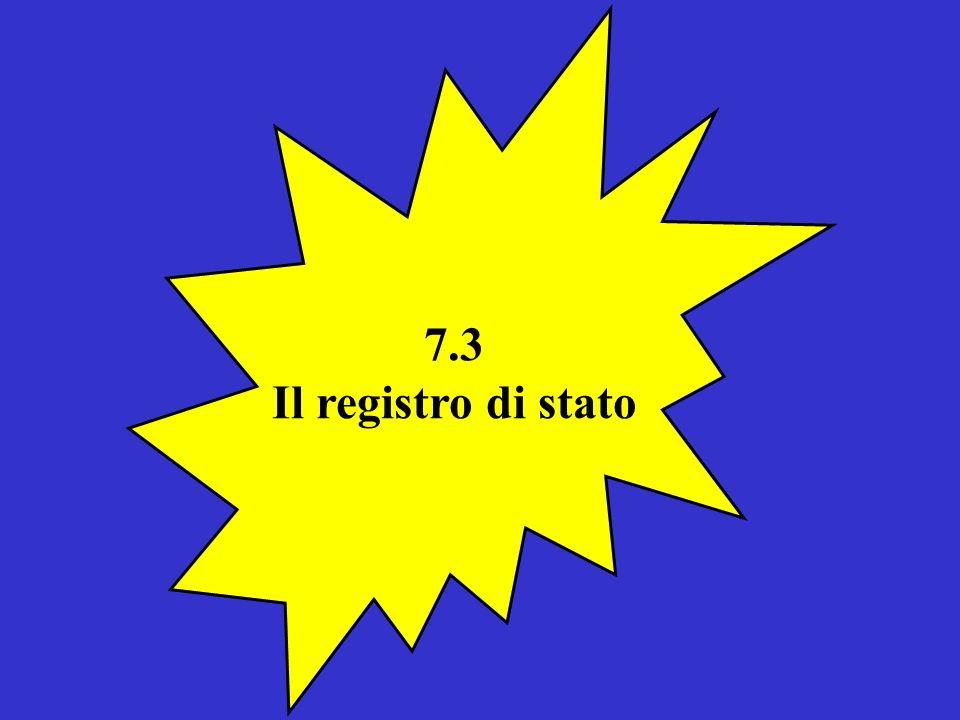 7.3 Il registro di stato