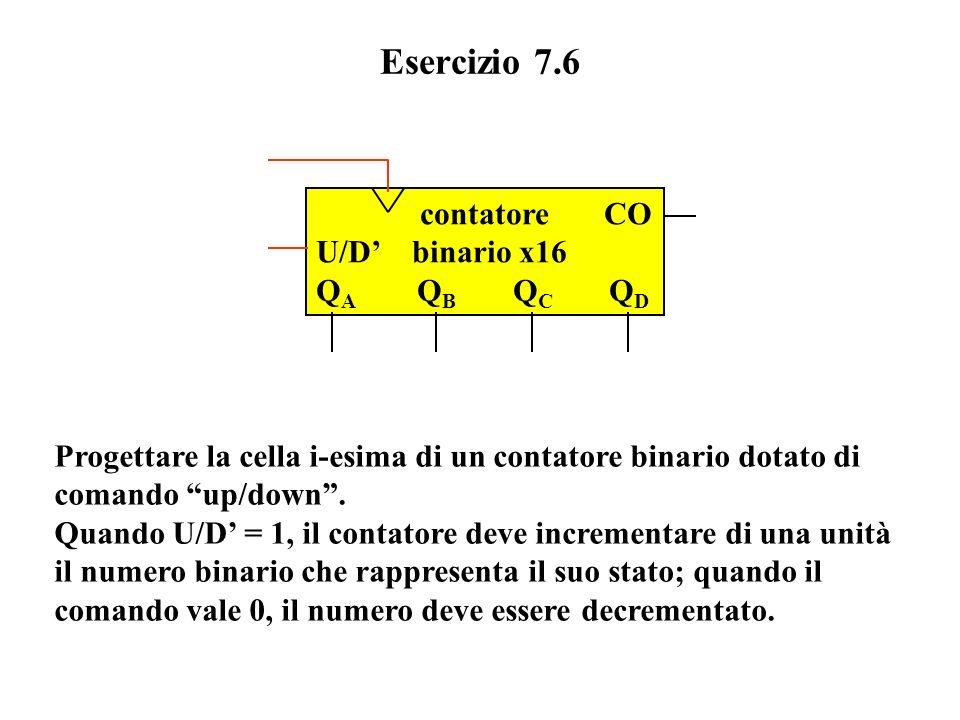 Esercizio 7.6 contatore CO U/D' binario x16 QA QB QC QD