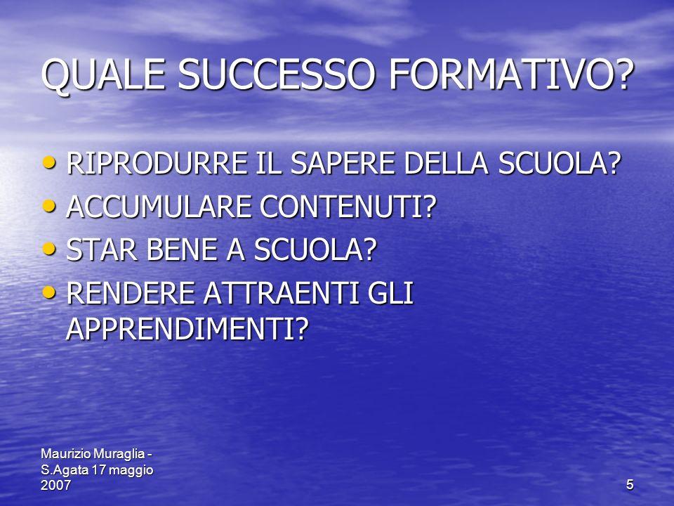 QUALE SUCCESSO FORMATIVO