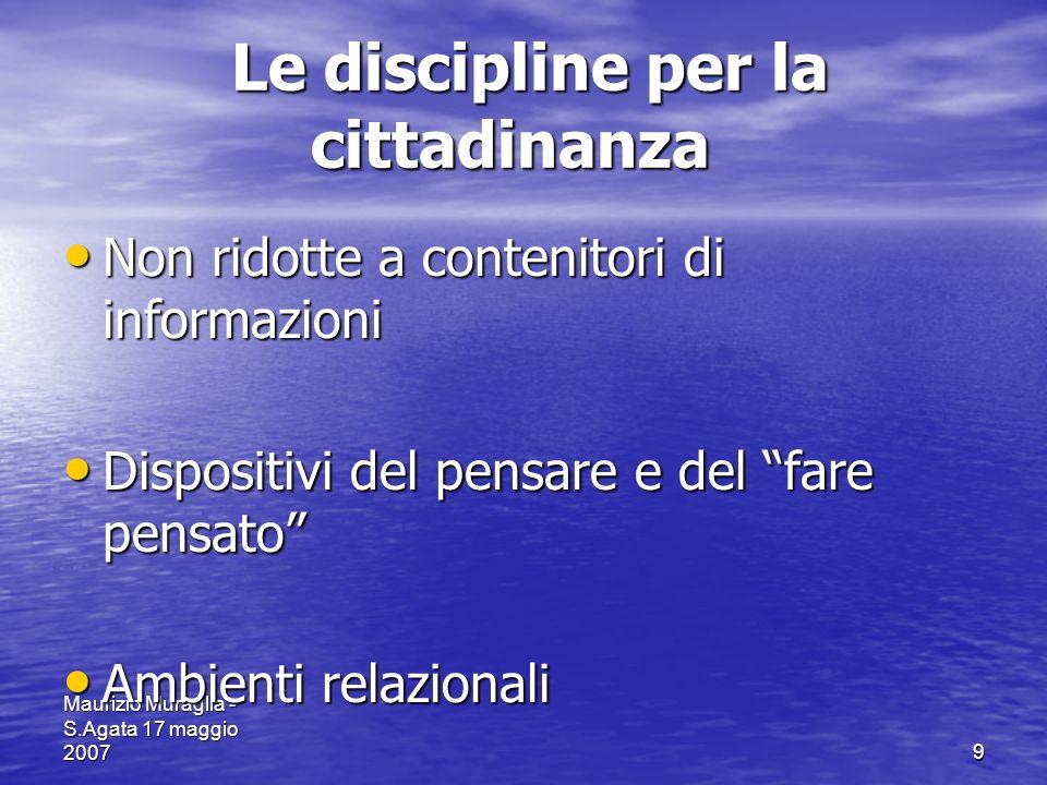 Le discipline per la cittadinanza