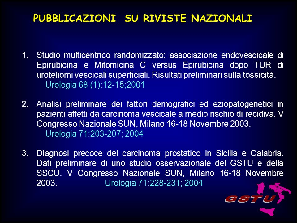 PUBBLICAZIONI SU RIVISTE NAZIONALI