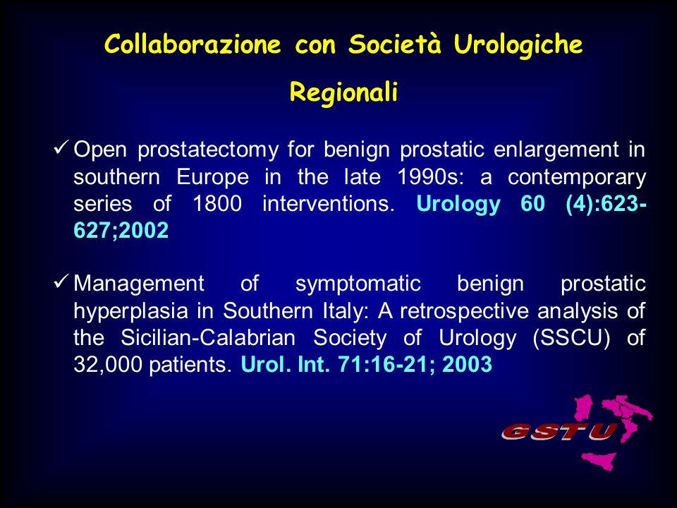 Collaborazione con Società Urologiche Regionali