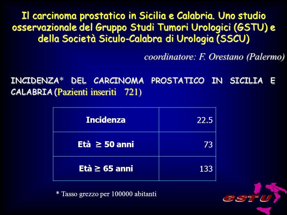 Il carcinoma prostatico in Sicilia e Calabria