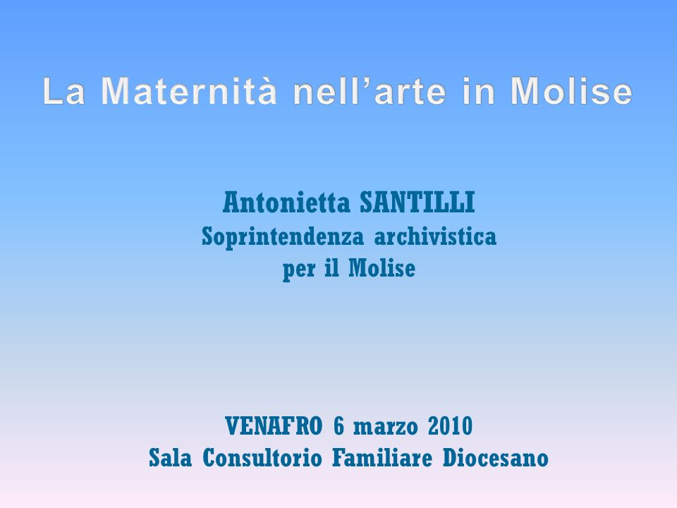 La Maternità nell'arte in Molise