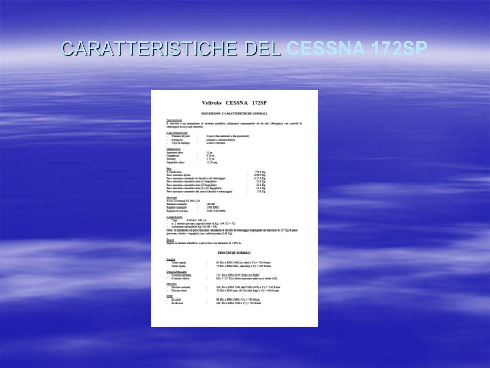 CARATTERISTICHE DEL CESSNA 172SP