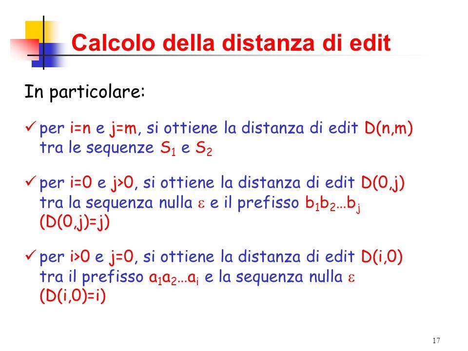 Calcolo della distanza di edit